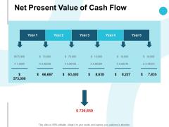 Net Present Value Of Cash Flow Ppt PowerPoint Presentation Summary Samples