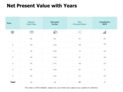 Net Present Value With Years Ppt PowerPoint Presentation Outline Show