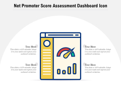 Net Promoter Score Assessment Dashboard Icon Ppt PowerPoint Presentation File Icon PDF