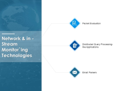 Network And In Stream Monitoring Technologies Ppt PowerPoint Presentation File Influencers