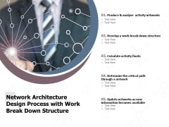 Network Architecture Design Process With Work Break Down Structure Ppt PowerPoint Presentation Inspiration Summary PDF