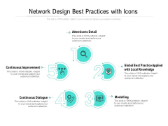 Network Design Best Practices With Icons Ppt PowerPoint Presentation Pictures Files PDF