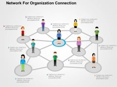 Network For Organization Connection Powerpoint Templates