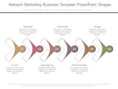 Network Marketing Business Template Powerpoint Shapes