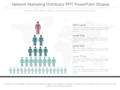 Network Marketing Distributor Ppt Powerpoint Shapes
