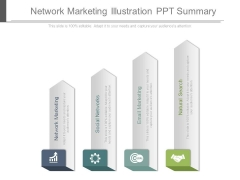 Network Marketing Illustration Ppt Summary