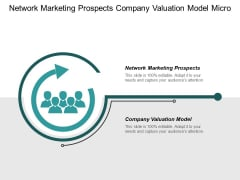 Network Marketing Prospects Company Valuation Model Micro Business Ppt PowerPoint Presentation Slides Deck Cpb