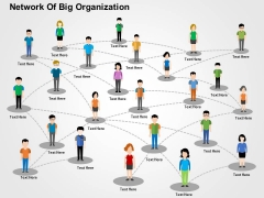 Network Of Big Organization Powerpoint Templates