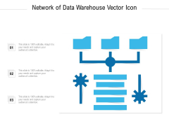 Network Of Data Warehouse Vector Icon Ppt PowerPoint Presentation Gallery Images PDF