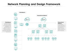 Network Planning And Design Framework Ppt PowerPoint Presentation File Portfolio PDF