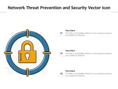 Network Threat Prevention And Security Vector Icon Ppt PowerPoint Presentation Outline Example Introduction PDF