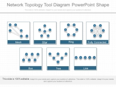 Network Topology Tool Diagram Powerpoint Shape
