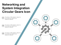 Networking And System Integration Circular Gears Icon Ppt Powerpoint Presentation Outline Tips