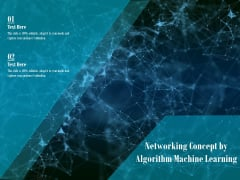 Networking Concept By Algorithm Machine Learning Ppt PowerPoint Presentation Gallery Introduction PDF