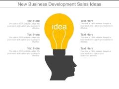 New Business Development Sales Ideas Ppt PowerPoint Presentation Designs