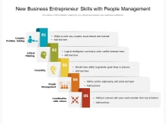 New Business Entrepreneur Skills With People Management Ppt PowerPoint Presentation Ideas Background Designs PDF