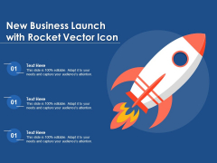 New Business Launch With Rocket Vector Icon Ppt PowerPoint Presentation Gallery Deck PDF
