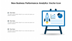 New Business Performance Analytics Vector Icon Ppt PowerPoint Presentation Gallery Show PDF