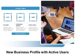 New Business Profile With Active Users Ppt PowerPoint Presentation File Deck PDF