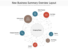 New Business Summary Overview Layout Ppt PowerPoint Presentation Gallery Layout Ideas PDF