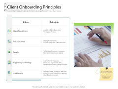 New Client Onboarding Automation Client Onboarding Principles Ppt Icon Grid PDF