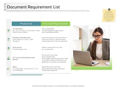 New Client Onboarding Automation Document Requirement List Demonstration PDF