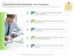 New Client Onboarding Automation Pain Points In Client Onboarding Firms Perspective Formats PDF