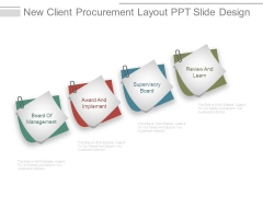 New Client Procurement Layout Ppt Slide Design