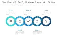 New Clients Profile For Business Presentation Outline