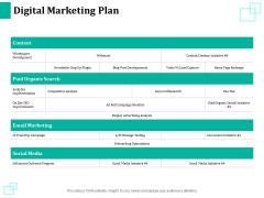 New Commodity Reveal Initiative Digital Marketing Plan Ppt Slides Show PDF