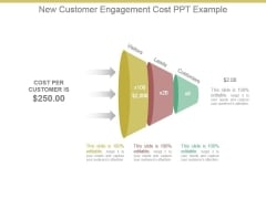 New Customer Engagement Cost Ppt Example