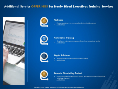 New Employee Onboard Additional Service Offerings For Newly Hired Executives Training Services Ppt Inspiration Portfolio PDF
