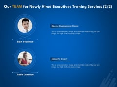 New Employee Onboard Our Team For Newly Hired Executives Training Services Development Ppt Show Outfit PDF
