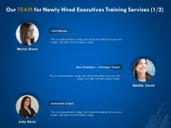 New Employee Onboard Our Team For Newly Hired Executives Training Services Representative Ppt Infographic Template Good PDF