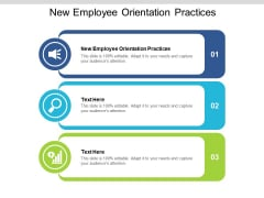 New Employee Orientation Practices Ppt PowerPoint Presentation Slides Infographics Cpb