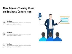 New Joinees Training Class On Business Culture Icon Ppt PowerPoint Presentation Gallery Designs Download PDF