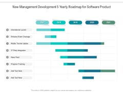 New Management Development 5 Yearly Roadmap For Software Product Sample