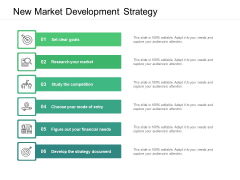 New Market Development Strategy Ppt PowerPoint Presentation Show Graphics Download