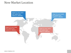 New Market Location Ppt PowerPoint Presentation Background Images