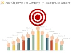 New Objectives For Company Ppt Background Designs