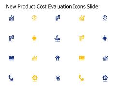 New Product Cost Evaluation Icons Slide Ppt PowerPoint Presentation Infographics Files