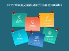 New Product Design Sticky Notes Infographic Ppt PowerPoint Presentation Gallery Inspiration PDF