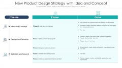 New Product Design Strategy With Idea And Concept Ppt File Example Introduction PDF