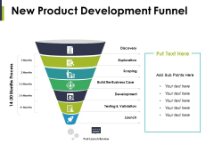 New Product Development Funnel Ppt PowerPoint Presentation Infographic Template Sample