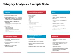 New Product Development Performance Evaluation Category Analysis Example Slide Ppt PowerPoint Presentation Inspiration Guidelines PDF