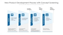 New Product Development Process With Concept Screening Ppt Designs Download PDF