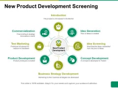 New Product Development Screening Ppt PowerPoint Presentation Gallery Example Introduction