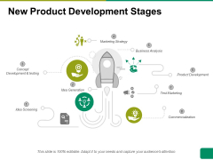 New Product Development Stages Ppt PowerPoint Presentation File Visual Aids