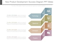 New Product Development Success Diagram Ppt Slides