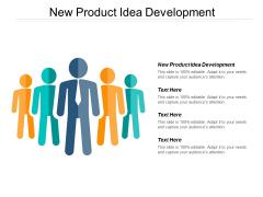 New Product Idea Development Ppt PowerPoint Presentation Infographics Example